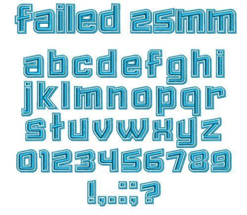 Failed 25mm Font