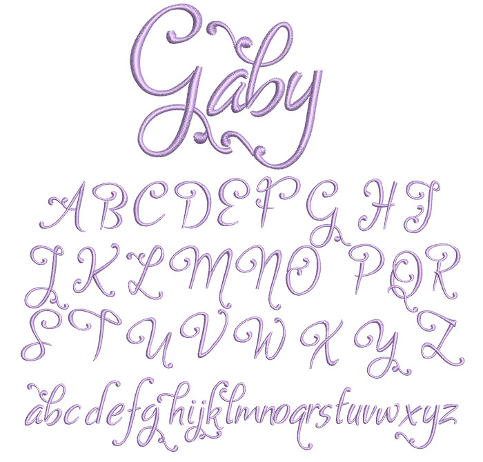 Gaby 25mm Font