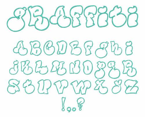 Graffiti Applique Font