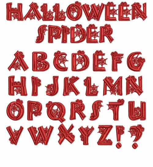 Halloween Spider 40mm Font