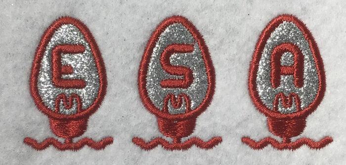 Holiday Lights Applique 40mm Font