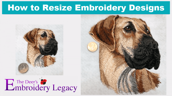 How to resize machine embroidery designs