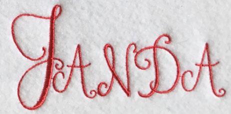 Janda Monogram 50mm Font