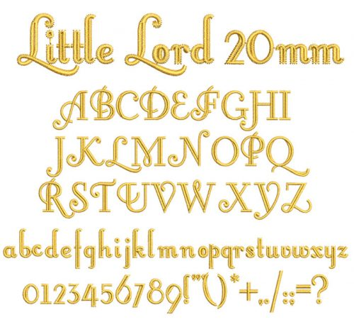 Little Lord 20mm Font