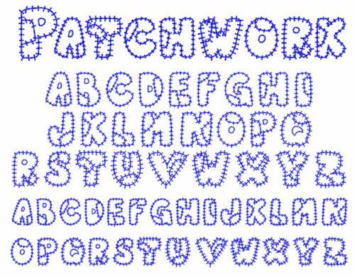 Patchwork 15mm Font
