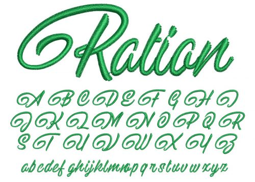 Ration 20mm Font
