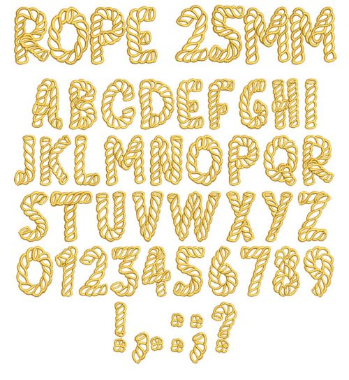 Rope 25mm Font