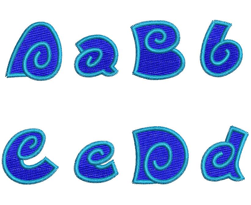 Spiral 2 color 25mm Font