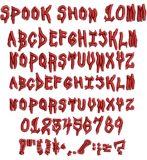 Spook Show 10mm Font