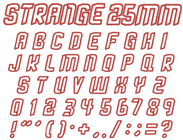 Strange 25mm Font