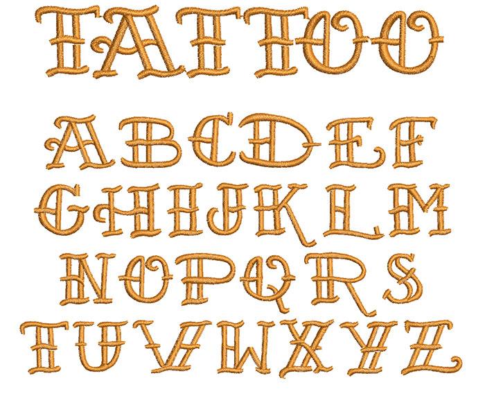 Tattoo 20mm Font
