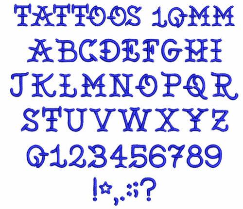 Tattoos 10mm Font