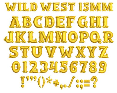 Wild West 15mm Font