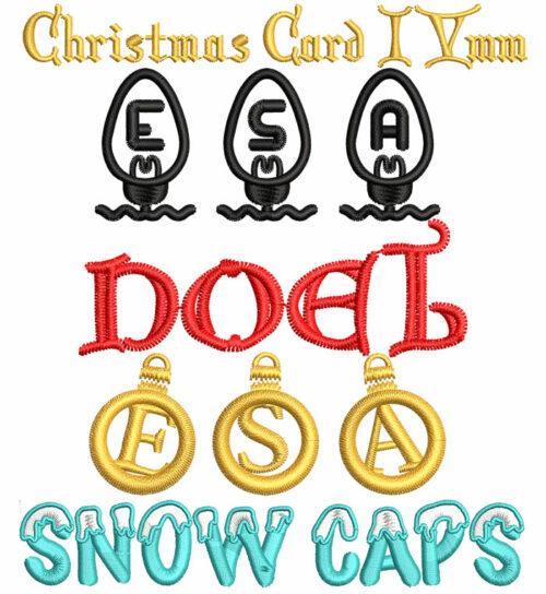 Christmas ESA Fonts Bundle