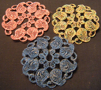 lace coaster charms