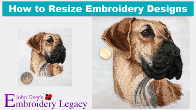 How to Resize Embroidery Designs