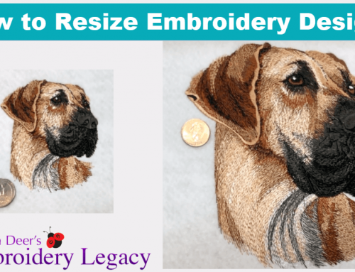Rules for Resizing Embroidery Designs