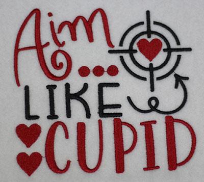 aim like cupid embroidery design