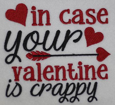 valentine crappy embroidery design