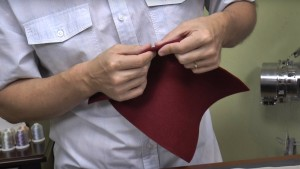 Folded Fabric for Hooping
