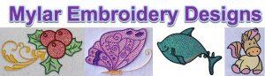 mylar embroidery designs