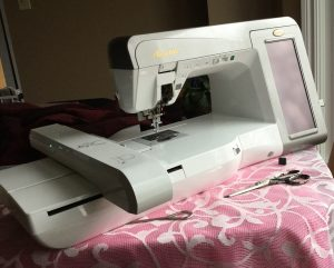 Single needle embroidery machine