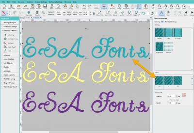 ESA Fonts Stitch Types