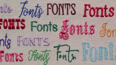 Machine Embroidery Fonts Examples