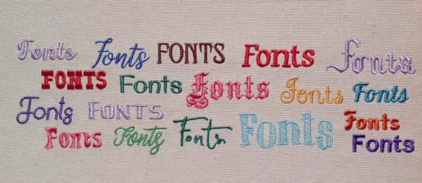 Machine Embroidery Fonts Example