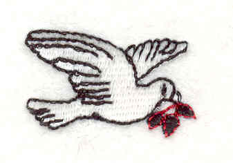 Embroidery Design: Dove 1 0.78w X 1.21h