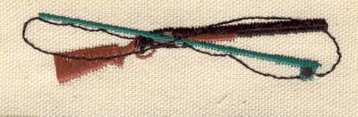 Embroidery Design: Rod and gun 3.50w X 0.81h