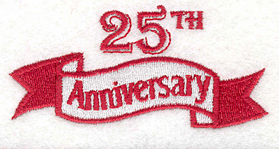 """Embroidery Design: Banner 161.45"""" x 3.06"""""""