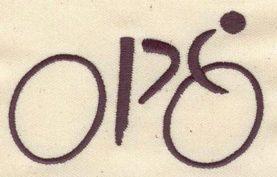 Embroidery Design: Cyclist 3.57w X 2.20h