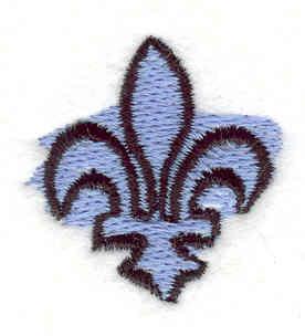 Embroidery Design: Fleur-de-lis1.20w X 1.21h
