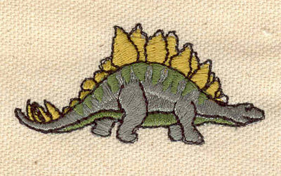 Embroidery Design: Dinosaur Stegosaurus 2.25w X 1.10h