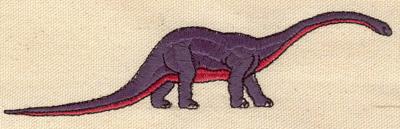 Embroidery Design: Dinosaur Brontosaurus 5.62w X 1.45h