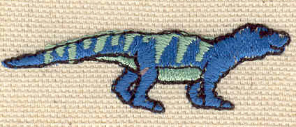 Embroidery Design: Dinosaur 2.06w X 0.76h