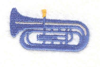 "Embroidery Design: Tuba 0.93"" X 1.67"""