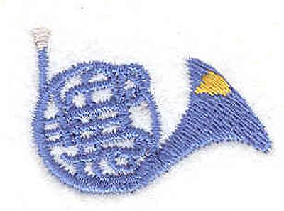 """Embroidery Design: French Horn 0.89"""" X 1.30"""""""