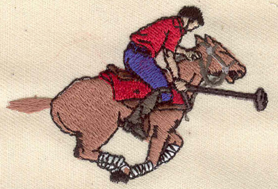 Embroidery Design: Polo player 2.66w X 1.85h
