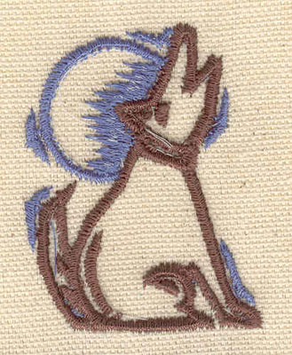 Embroidery Design: Dog howling 1.66w X 2.22h