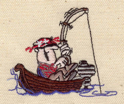 Embroidery Design: Happy fisherman 2.74w X 2.24h