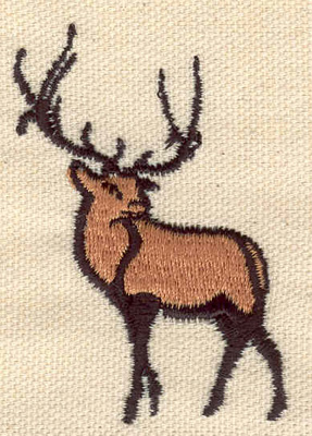 Embroidery Design: Reindeer 1.77w X 2.47h