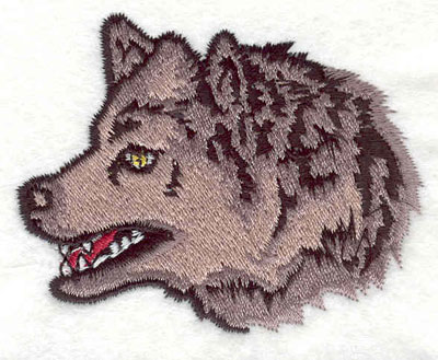 """Embroidery Design: Wolf head D 2.73""""w X 2.20""""h"""