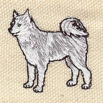 Embroidery Design: Husky 1.22w X 1.21h