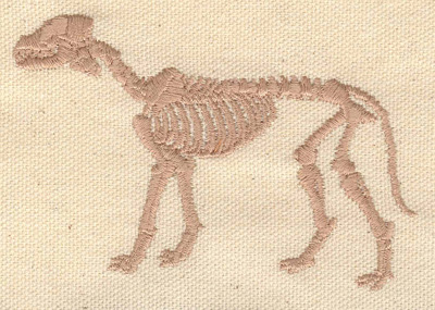Embroidery Design: Dinosaur fossil  3.89w X 2.44h