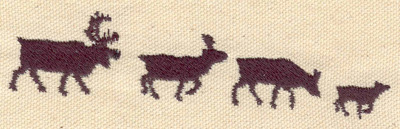 Embroidery Design: Deer family4.61w X 1.07h
