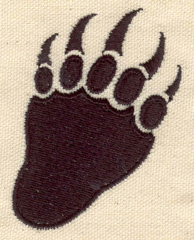 Embroidery Design: Paw A 2.17w X 2.87h