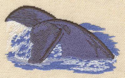 Embroidery Design: Whale fine 3.30w X 1.85h