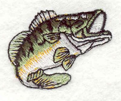 """Embroidery Design: Bass C 1.60""""w X 1.25""""h"""